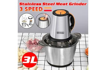 3L 220V Electric Meat Grinder Sausage Maker One-key Food Mincer Chopper Kitchen
