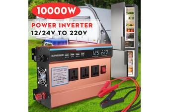 10000W Pure Sine Wave Power Inverter 12V DC to 220V Truck/RV Car/Home Solar