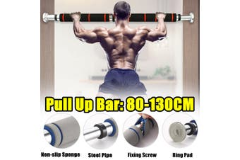 80-130cm Chin Pull Up Bar Adjustable Sit-Up Exercise Bar Doorway Fitness Home Workout