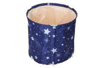Folding Bath Tub Inflatable Portable Adult Baby Outdoor Room Spa PVC Water Bucke(B)