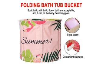 Folding Bath Tub Inflatable Portable Adult Baby Outdoor Room Spa PVC Water Bucke(A)