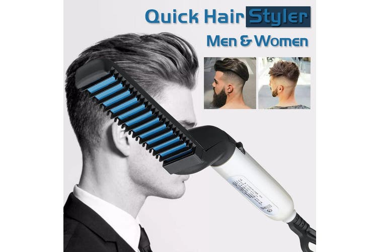 Home Essential Modern Stylish Modeling Comb 220V Electric Hair Straightening Comb Fast Heating Brush Beard Straightener AU Plug
