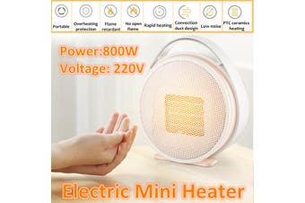 800W Portable Mini Electric Heater Fan Handy Air Warmer Silent Home/Office