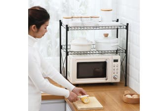 2-Tier Kitchen Microwave Stand Storage Rack Floor multi-layer Household Pot Lid Dish Rack microwave oven rack
