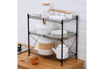 3-Tier Kitchen Microwave Stand Storage Rack Floor multi-layer Household Pot Lid Dish Rack microwave oven rack