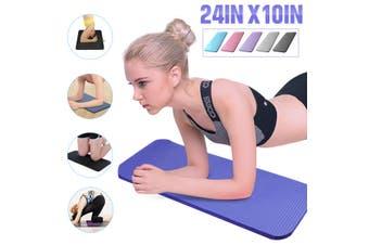 60x25x1.5cm MINI Yoga Knee Pad Cushion Anti-Slip 15mm Thick Workout Exercise Travel Mat Workout Fitness Mat NBR(purple,60x25x1.5cm)