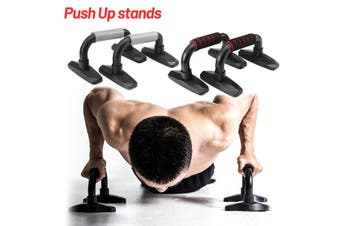 H-type Push Ups Bracket Chest Abdominal Training Fitness Push Up Bars With Foam(red,2pcs)