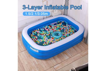 Portable Inflatable Swimming Pool Kids Children Adults Home Use Outdoor Indoor(7ft 210x150x60cm)