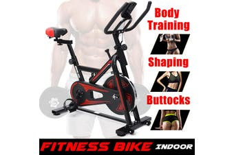 New Update Professional Home Office Exercise Bike LED Display Gym Workout Trainer Bicycle Weight Loss Equipment Silent Fitness Indoor Sport (red)