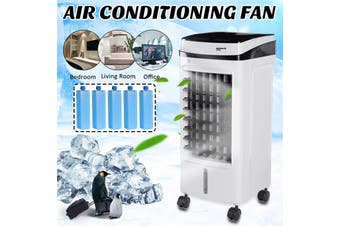 【15L】(75W) 3-Mode Evaporative Air Cooler Portable Conditioner Fan Humidifier Purifier Air Conditioning Unit Air Cooling Fan With Remote Control+4 Wheels For Home Office Room Dorm 220V