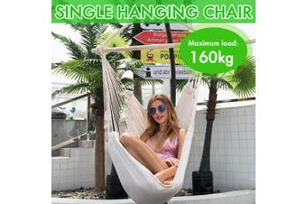 100x50cm Hanging Single Hang Chair Air Sky Chair Style Hammock Chair Swing for Indoor/OutdoorBearing 160kg Max