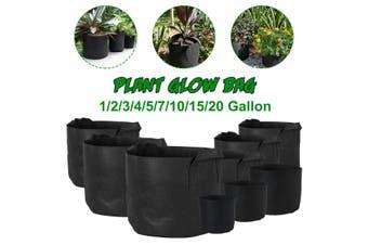 Non-woven Fabric Plant Vegetable Flower Grow Pots Bag Planter Black with Handles