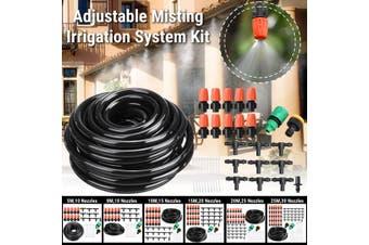 5M/8M/10M/15M/20M/25M DIY Garden Micro Drip Adjustable Misting Irrigation System Tubing Hose Kits Plant Flower Watering Sprinkler Patio Water Mister