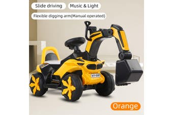 Kids Play Ride On Car Excavator Sand Digger Car Toy Truck With Musical Effect Children Gift For Boy