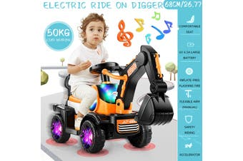 Electric Kids Ride On Digger Toy Car Outdoor Push Sand Tractor Battery Operated