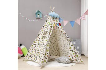 135/160cm Play Teepee Kids Indoor Play Tents Castle Cubby Playhouse Outdoor AU(1.6 m)
