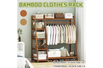 Wooden Wardrobe Clothes Shoe Rack Clothing Closet Storage Storage Rack Hanging Rail Rack