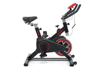 Black Exercise Spin Bike Professional Home Cycling Weight Loss Workout Equipment (black)