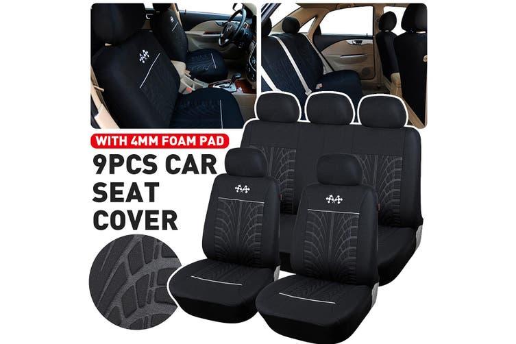 Universal Car Seat Covers Protector Car Interior Decoration Full Set Front + Rea(random colors)