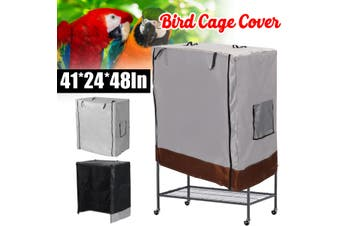Bird Cage Dust Cover Waterproof Oxford Cloth Large Parrot Cage Cover Waterproof Oxford Cloth Large Parrot Cage Cover Universal(grey)