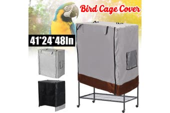 Bird Cage Dust Cover Waterproof Oxford Cloth Large Parrot Cage Cover Waterproof Oxford Cloth Large Parrot Cage Cover Universal(brown)