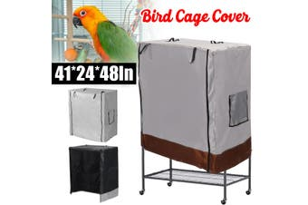 Bird Cage Dust Cover Waterproof Oxford Cloth Large Parrot Cage Cover Waterproof Oxford Cloth Large Parrot Cage Cover Universal(black)