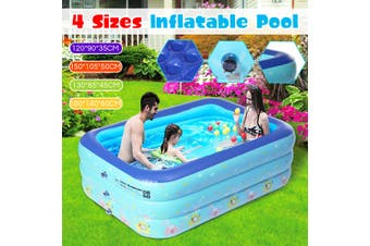 Swimming Pool Inflatable Child Family Patio Garden Outdoor Rectangular Paddling