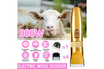 900W 5 Speeds Electric Sheep Goat Shearing Machine Clipper Shears Wool Scissors Wool Cutter Grooming Clipper with 4 Limit Comb110V-240V