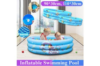 90/110CM Soft Inflatable Baby Swimming Pool Adults Kids Pool Bathing Tub Baby Playground Outdoor Indoor Eletric Air Pump(Only 110cm Donuts Pool)