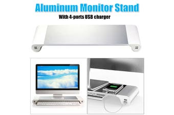 Laptop Monitor Notebook Stand Tray Computer With 4 Ports Usb Hub Fast Charging Port