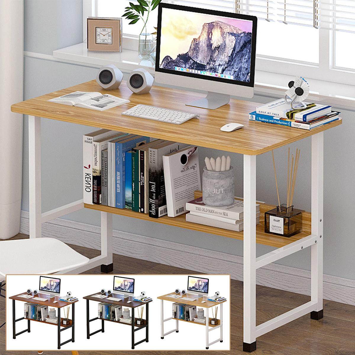 Business & Industrial Office Furniture White Office Wood Computer ...