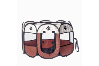 M Foldable Pet Dog Cat Playpen Tent Dog Exercise Play Kennel Outdoor Dogs Cats Nest