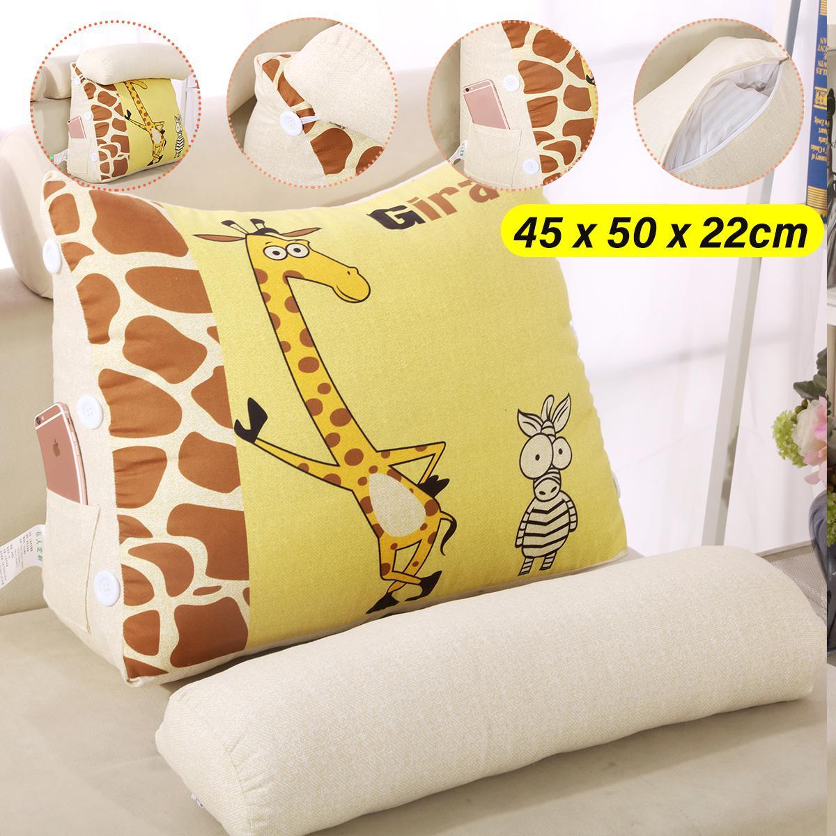 Picture of: 45cm 60cm Wedge Back Pillow Rest Sleep Neck Home Sofa Bed Lumbar Office Cushion 45cm Style A Matt Blatt