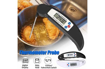 Audew Digital Food Thermometer Temperature Probe Grill Kitchen Cooking BBQ Grill Food Meat Black