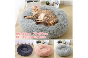 Round Plush Cat Bed Dog House Puppy Cushion Pet Sleep Blanket Pet Cat Soft Bed 70x20cm