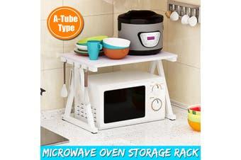 2 Tier Kitchen Organizer Kitchen Shelf Microwave Oven Rack Stand Holder Wooden Condiment Storage