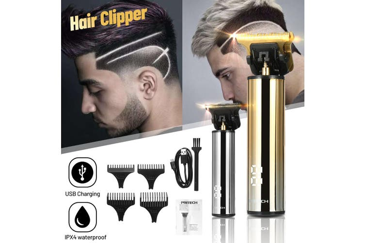 2 Gears Mini USB Rechargeable Precise Hair Clipper LED Display Beard Trimmer Low Noise