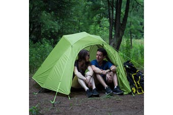 Naturehike Cloud-Up 2 People Lightweight Backpacking Tent 210T RipStop 4 Season Dome Tent Double Layers PU 3000mm Water Resistant with Footprint for Camping Hiking(green,2 Persons)