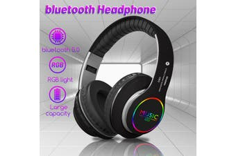 LED Wireless bluetooth Headphone Folding Noise Cancelling Stereo Headset