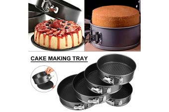 "5"" 6"" 7"" 8"" Baking Pans Dish Cake Mold Non-stick Removable Base Tray Round Mould(Square Shape 10inch(26cm))"