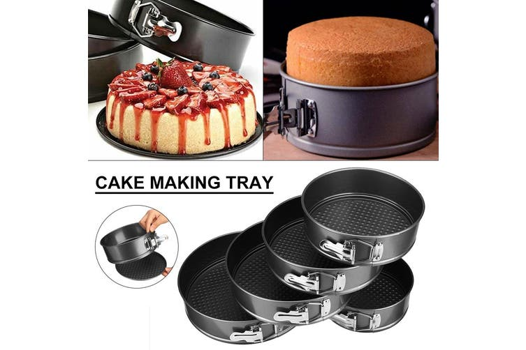 """5"""" 6"""" 7"""" 8"""" Baking Pans Dish Cake Mold Non-stick Removable Base Tray Round Mould(Square Shape 10inch(26cm))"""