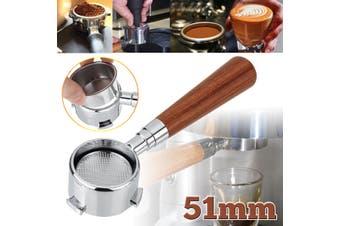 51MM Coffee Bottomless Portafilter Filter Replacement For Delonghi EC680/EC685(51MM Dark Color Coffee Portafilter)