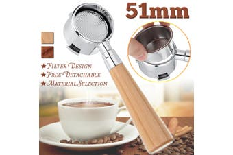51MM Coffee Bottomless Portafilter Filter Replacement For Delonghi EC680/EC685(51MM Light Color Coffee Bottomless Portafilter)