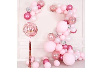 Balloon Garland Kit Arch For Wedding Birthday Party Girl Background Decorations(Balloons+Balloon Arch) -- Blue/ Gold/ Black