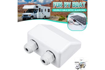 Top Double Cable Entry Gland Solar Panel Roof Motorhome Caravan Camper Boat Van #White