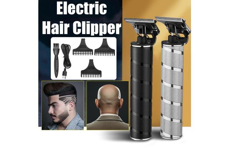 Cordless Trimmer Hair Clipper Machine Professional Mini Hair Salon Clipper Men's Hair Fasion(Color: Black/Silver)