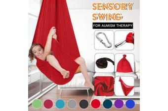 Outdoor Travel Leisure Cotton Camping Hammock Soft Sensory Swing Kids Children Hugging Hammock(red)