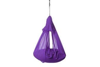 Outdoor Travel Leisure Cotton Camping Hammock Soft Sensory Swing Kids Children Hugging Hammock(purple)