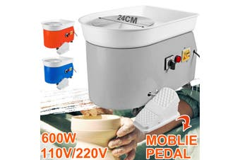600W Electric Pottery Wheel Machine For Ceramic Work Art Craft with Mobile Pedal