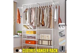 Clothes Hanger Organizer Portable Floor Display Shoes Bag Rack Garment Standing